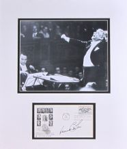 Leonard Bernstein Autograph Signed Display